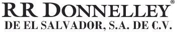 RR Donnelley de El Salvador,  S.A. de C.V.